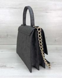 Женская сумка Лусия серого цвета