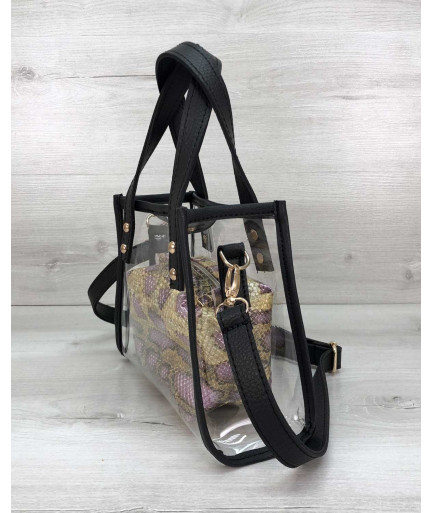 Маленькая силиконовая сумка Aster золотая рептилия