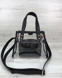 Маленькая силиконовая сумка Aster черная