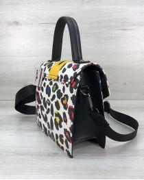 Женская сумка Daisy черная с желтым