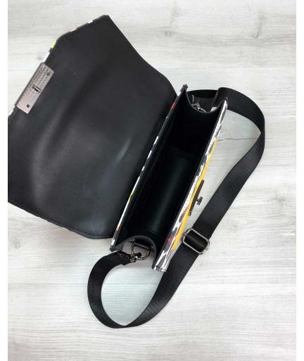 Женская сумка «Daisy» черная с желтым