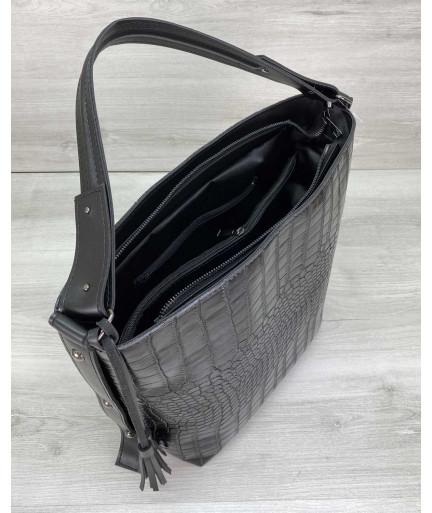 Женская сумка «Шерри» черная