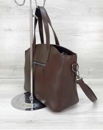 Женская сумка «Сью» шоколадного цвета