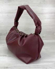 Женская сумка «Самира» бордовая
