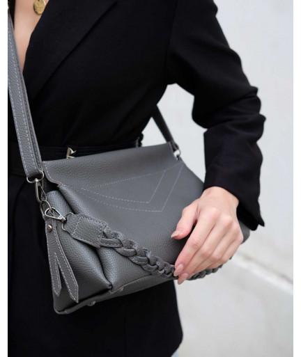 Женская сумка «Paris» серая