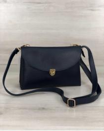 Молодежная женская сумка Виола синего цвета