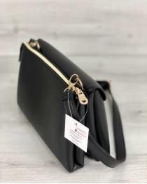 Молодежная женская сумка Виола черного цвета