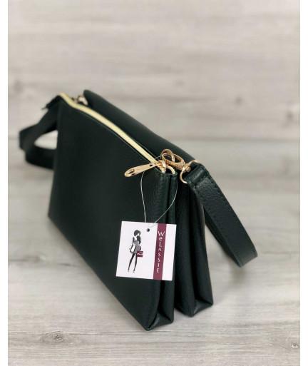 Молодежная женская сумка Виола зеленого цвета