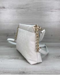 Женская сумка-клатч Ava белая