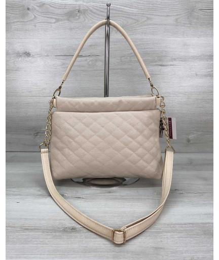 Женская сумка клатч «Ava» бежевая