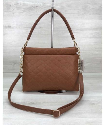 Женский клатч сумка «Ava» рыжая