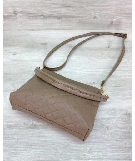 Женская сумка клатч «Ava» кофейная