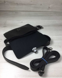 Женская сумка на пояс- клатч Арья черного цвета