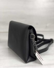Женский клатч на цепочке Белла черного цвета