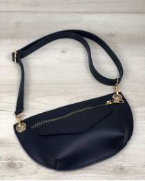 Женская сумка сумка на пояс- клатч Нана синего цвета