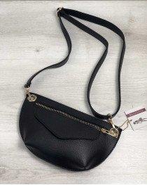 Женская сумка сумка на пояс- клатч Нана черного цвета