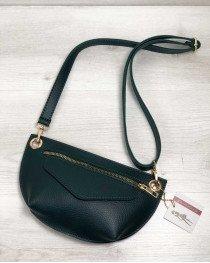Женская сумка сумка на пояс- клатч Нана зеленого цвета