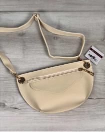 Женская сумка сумка на пояс- клатч Нана бежевого цвета