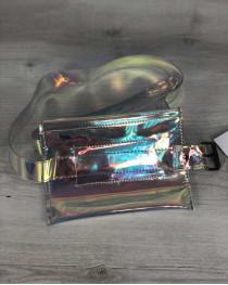 Стильная женская перламутровая сумка на пояс Moris (полупрозрачная)