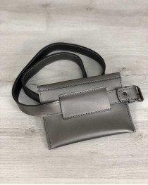 Стильная женская сумка на пояс Moris металлик
