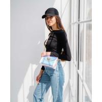 Женская сумка «Бэсс» перламутровая