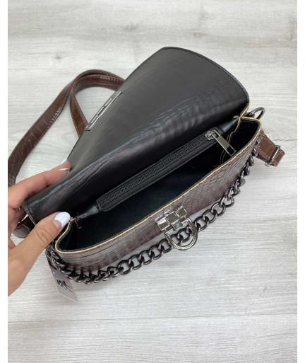 Женская сумка клатч «Келли» коричневая