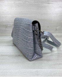 Женская сумка клатч «Келли» сероголубая