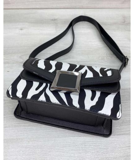 Женская сумка клатч «Арни» зебра