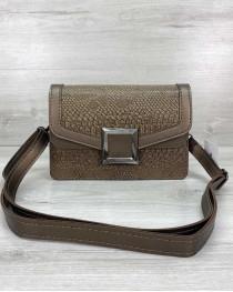 Женская сумка клатч «Арни» кофейная