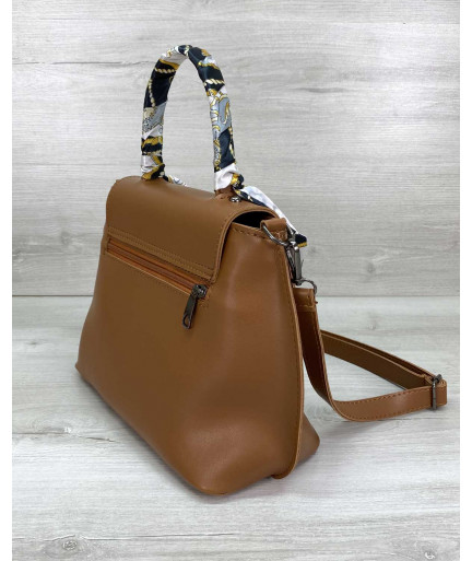 Женская сумка клатч «Лиам» рыжая