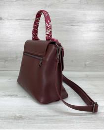 Женская сумка клатч «Лиам» бордовая