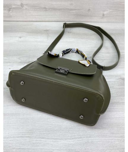 Женская сумка клатч «Лиам» оливковая