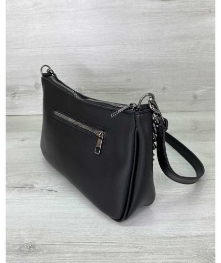 Женская сумка «Луна» черная