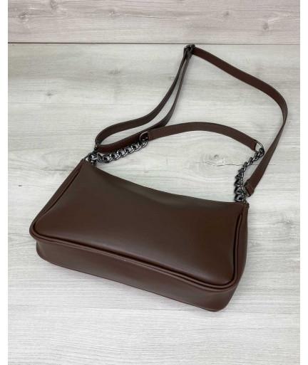Женская сумка «Луна» шоколадная