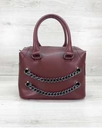 Женская сумка «Jean» бордовая