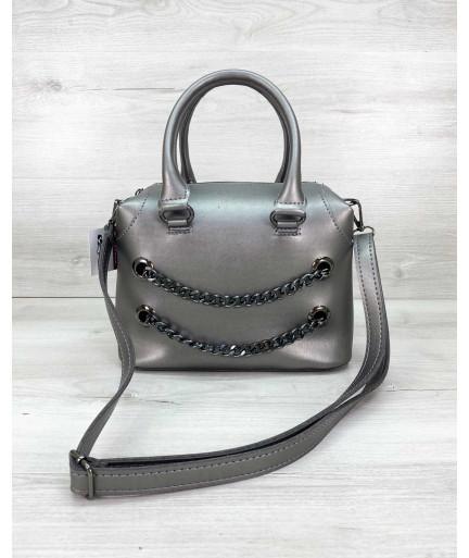 Женская сумка «Jean» металлик