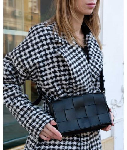 Женская сумка Bottega плетеная черная
