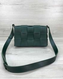 Женская сумка Bottega плетеная зеленая