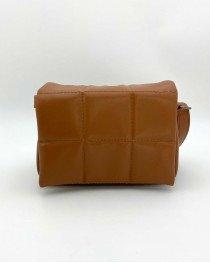 Женская сумка «Дина» рыжая маленькая