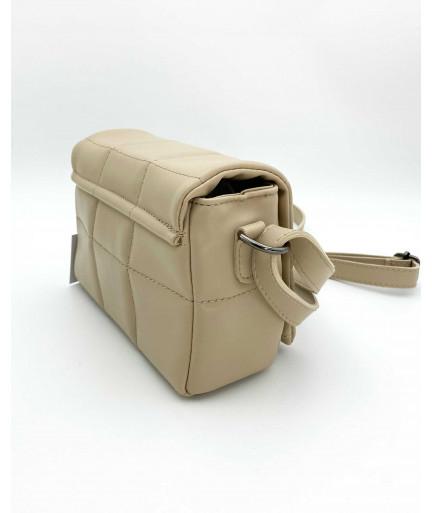 Маленькая женская сумка «Дина» бежевая