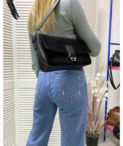Женская сумка «Наоми» натуральный замш