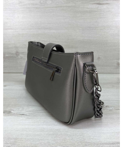 Женская сумка «Эвери» металлик