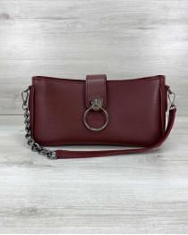 Женская сумка «Эвери» бордовая