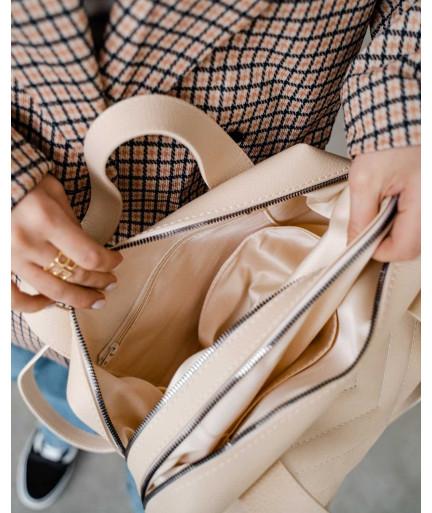 Женская сумка «Грейс» бежевая
