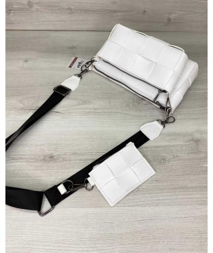 Женская сумка «Салли» комплект 3 в 1 белая