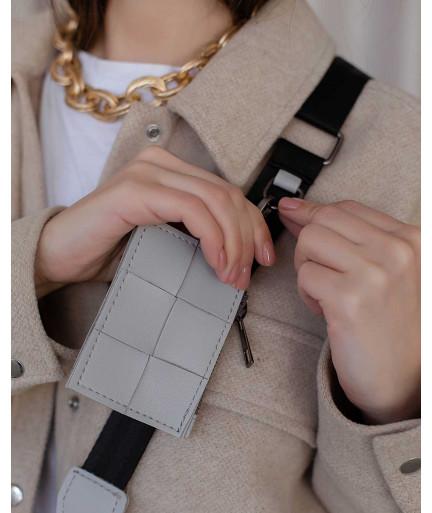 Женская сумка «Салли» комплект 3 в 1 серая