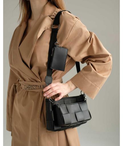 Женская сумка «Салли» комплект 3 в 1 черная