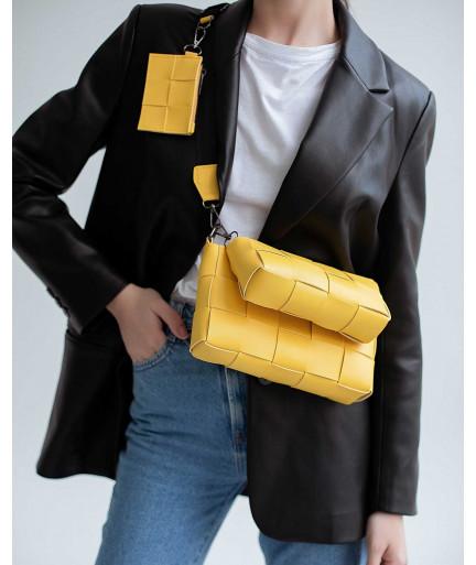 Женская сумка «Салли» комплект 3 в 1 желтая