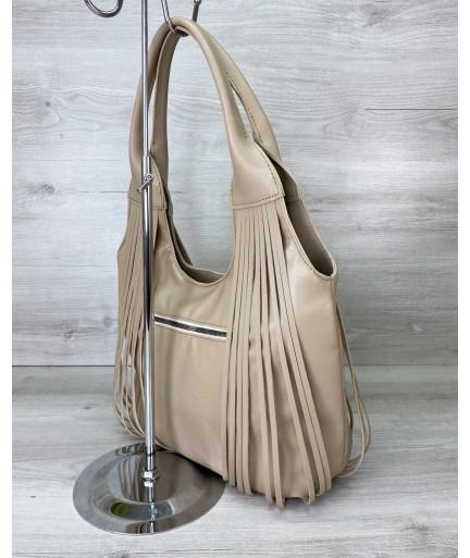 Женская сумка «Хелен» бежевая