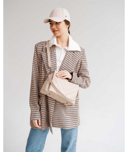 Женская сумка «Сара» бежевая